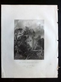 After Archer 1834 Antique Print. Old Tower, Heidelberg Castle, Germany